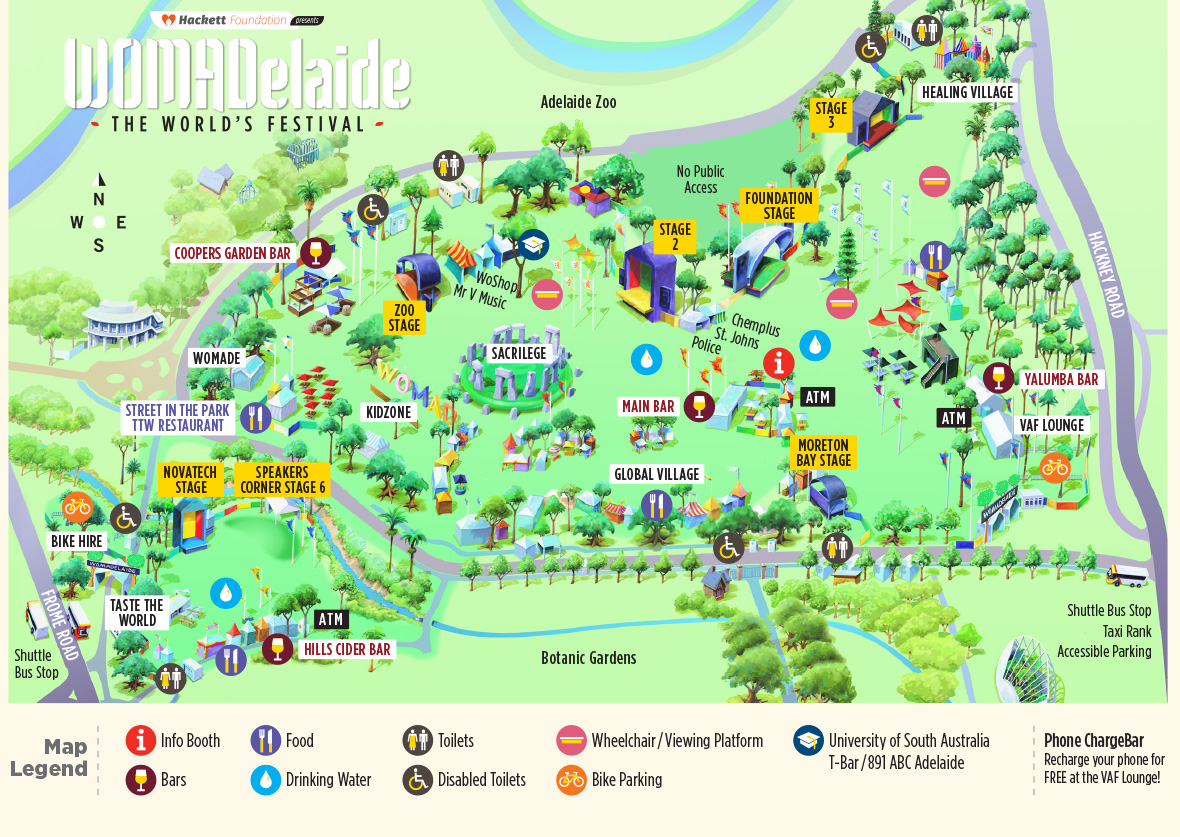 WOMADelaide Festival Map
